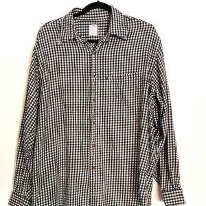 Brooks Brothers   346 Plaid Flannel Button Down Lg